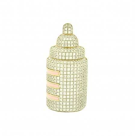 Baby Bottle Micro Pave...