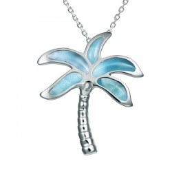 Palm Tree Necklace With...