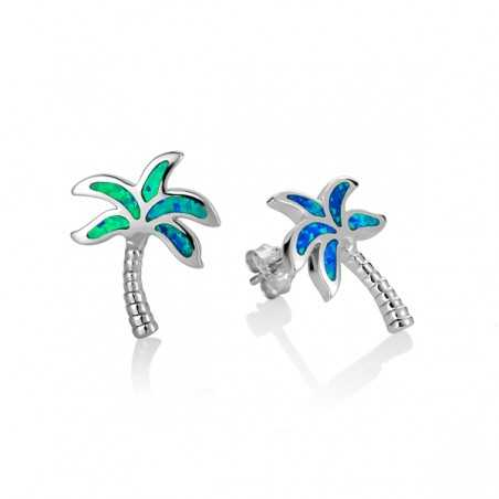 Palm Tree Stud With Blue...