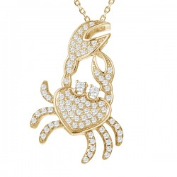 Crab Full Pave Pendant