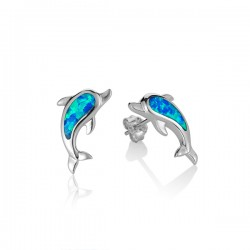 Dolphin Studs With Blue...