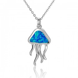 Jelly Fish Necklace With...