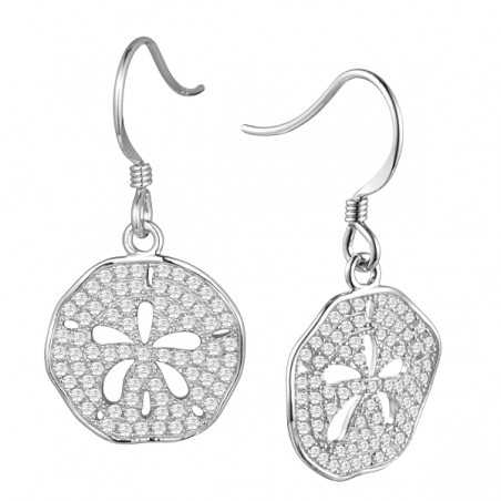 Sand Dollar Full Pave Earrings