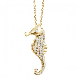 Sea Horse Full Pave Pendant...