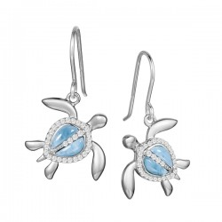 Sea Turtle Earrings With...
