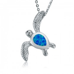Sea Turtle Necklace With...