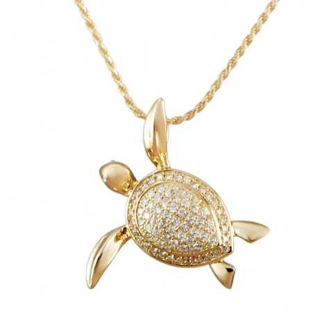 Sea Turtle Pave Shell...