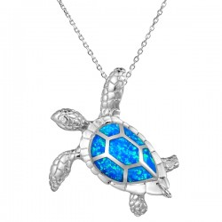 Sea Turtle Pendant With...