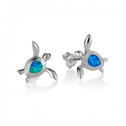 Sea Turtle Studs With Blue...