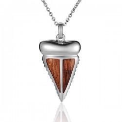 Shark Tooth Necklace With...