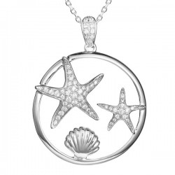 Starfish Pendant With Shell