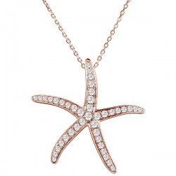 Thin Starfish Pendant With...